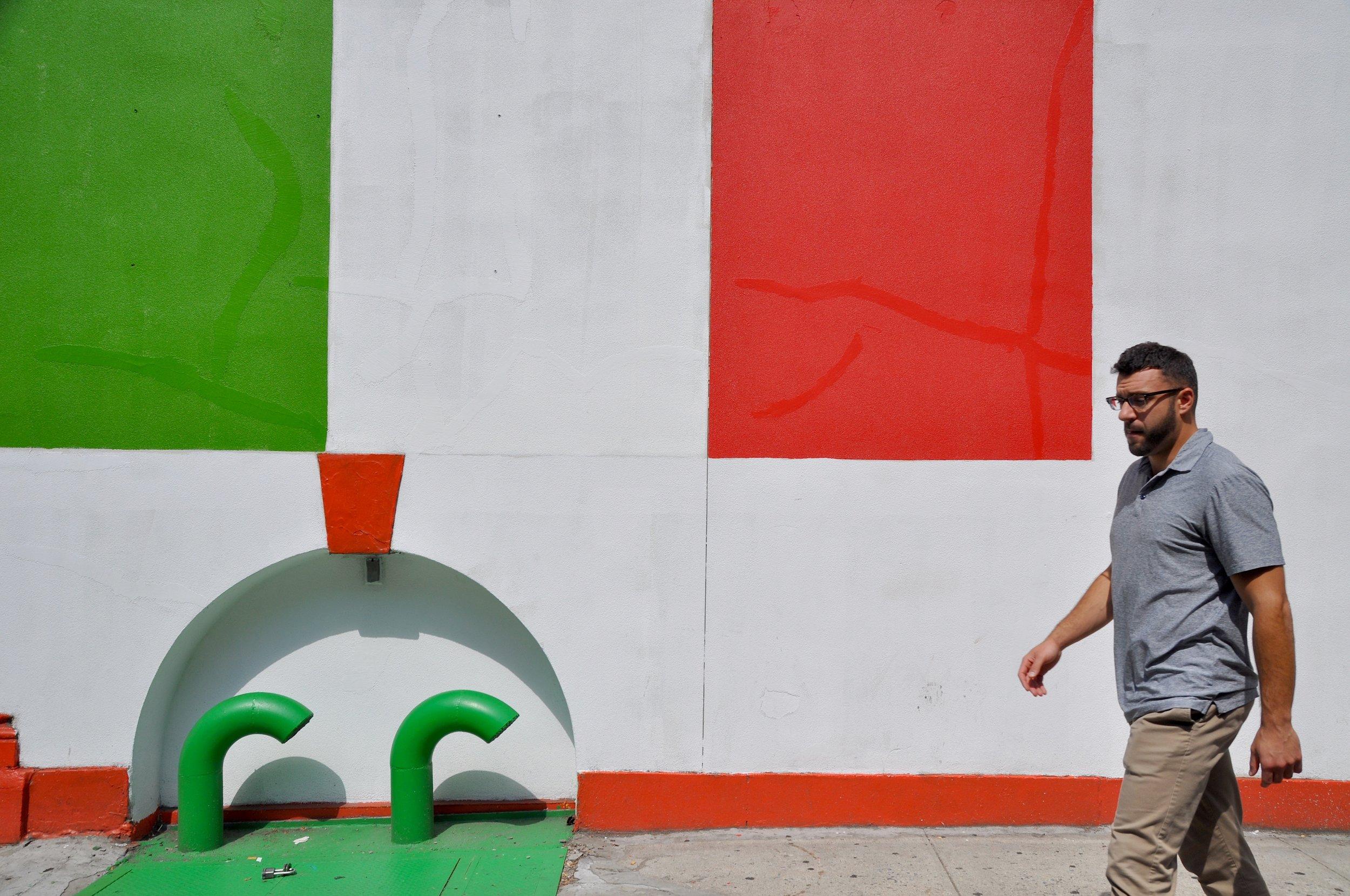 Italian Flag Wall T.JPG