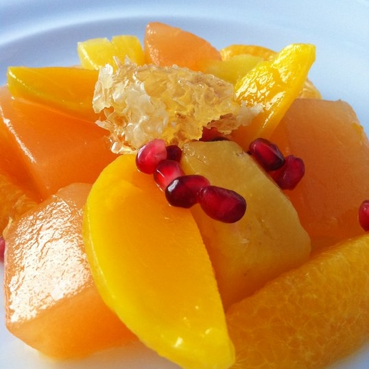Fruit and Honeycomb