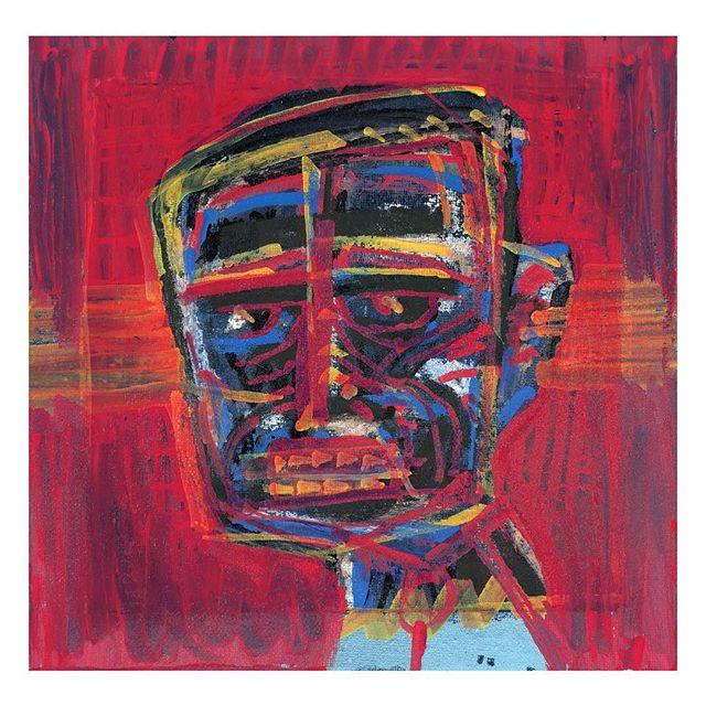 Tribal man 03, 2018. Acrylic and pastel over canvas. . . . #contemporaryart #abstractfigure #modernart #fscastro #art