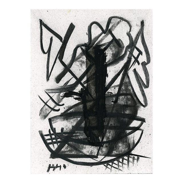 Plant 04, 2019. . . . #charcoaldrawing #abstractart #contemporaryart #fscastro #art