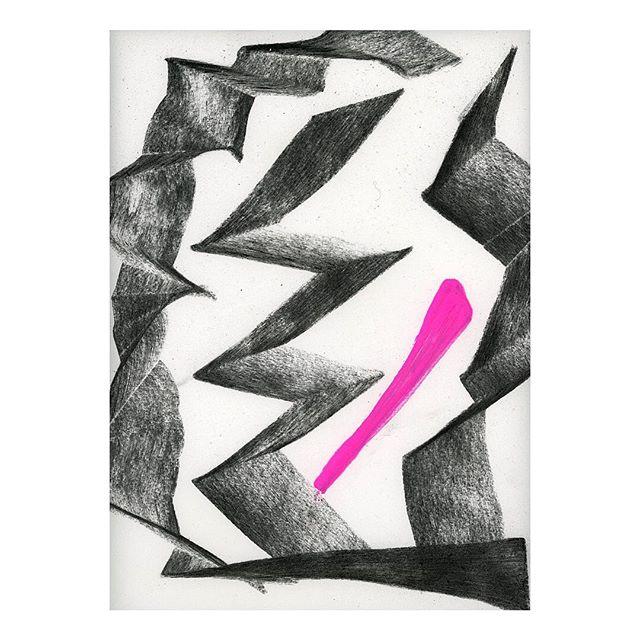 "Detail of Arc, 2019.  11x14"" Charcoal and acrylic on paper. . . . . #contemporaryart #modernart #abstractart #fscastro #art"