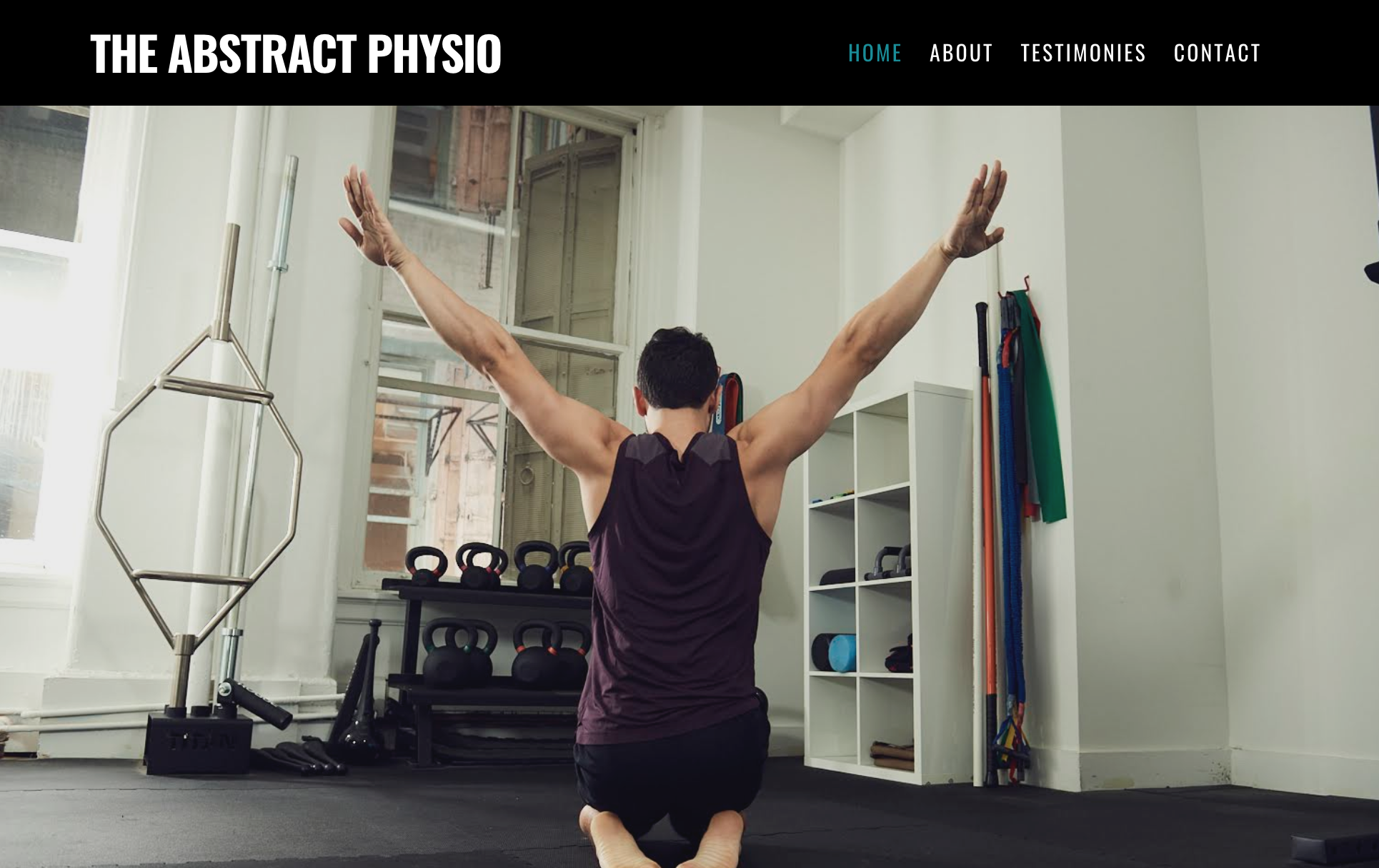 the abstract physio - I worked with Jordan to create a powerful website to showcase his expertise and dedication to his work. The goal was to showcase his skills using strong fonts and a powerful color scheme.