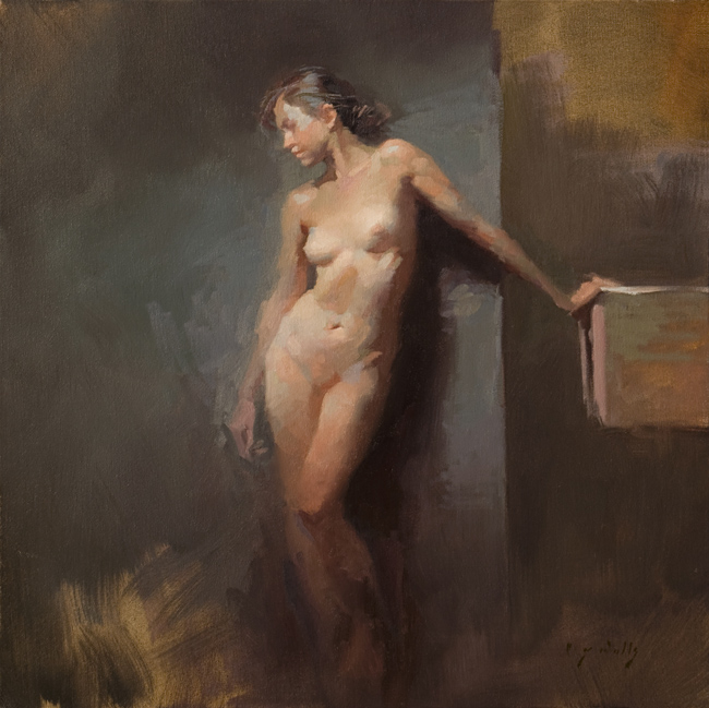 Standing Nude    24 x 24    oil on canvas