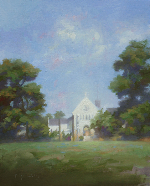 Afternoon at the Monastery    20 x 16    oil on canvas