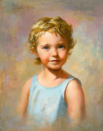 Miss Elizabeth Rose    20 x 16    oil on linen