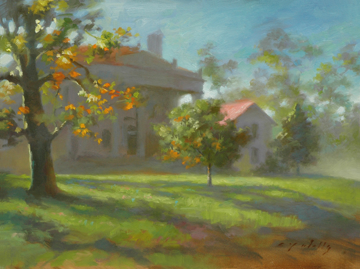 A Belle Meade Morning    12 x 16    oil on panel