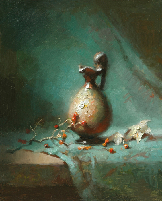 Etude - Grecian Ewer    10 x 8    oil on panel