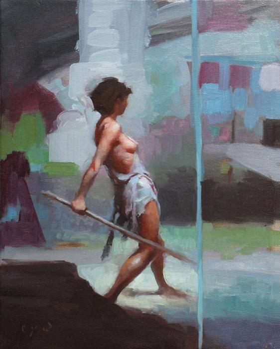 Unbroken 14 x 11 oil on canvas
