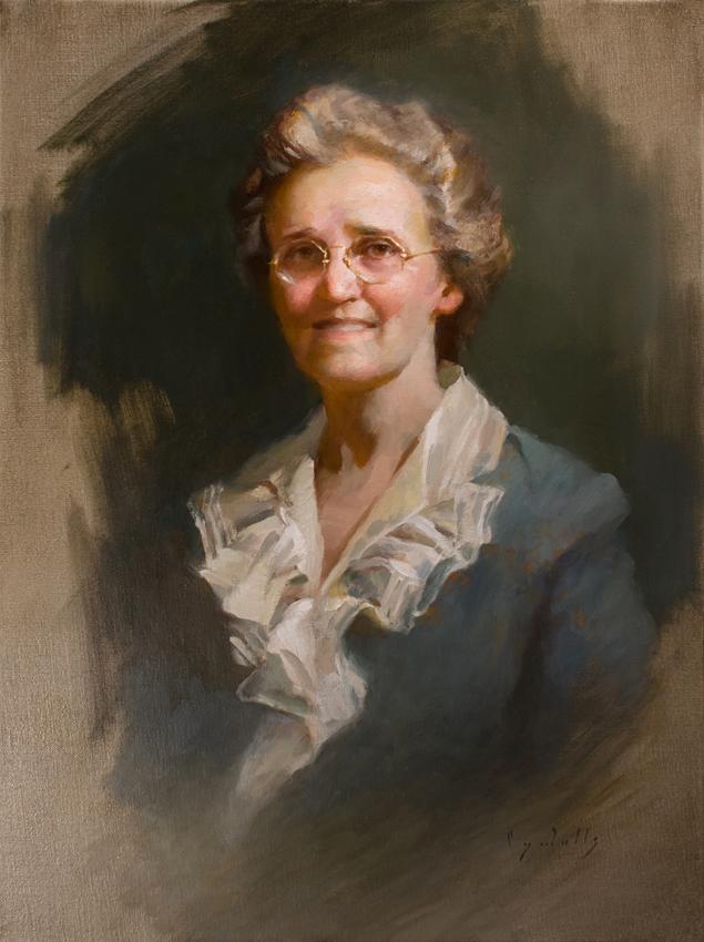 Portrait of Florine Dial Johnston  24 x 18  oil on linen