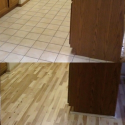 hickory Wood Floor Before and After