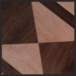 Maple and Walnut Diamonds wood floor border