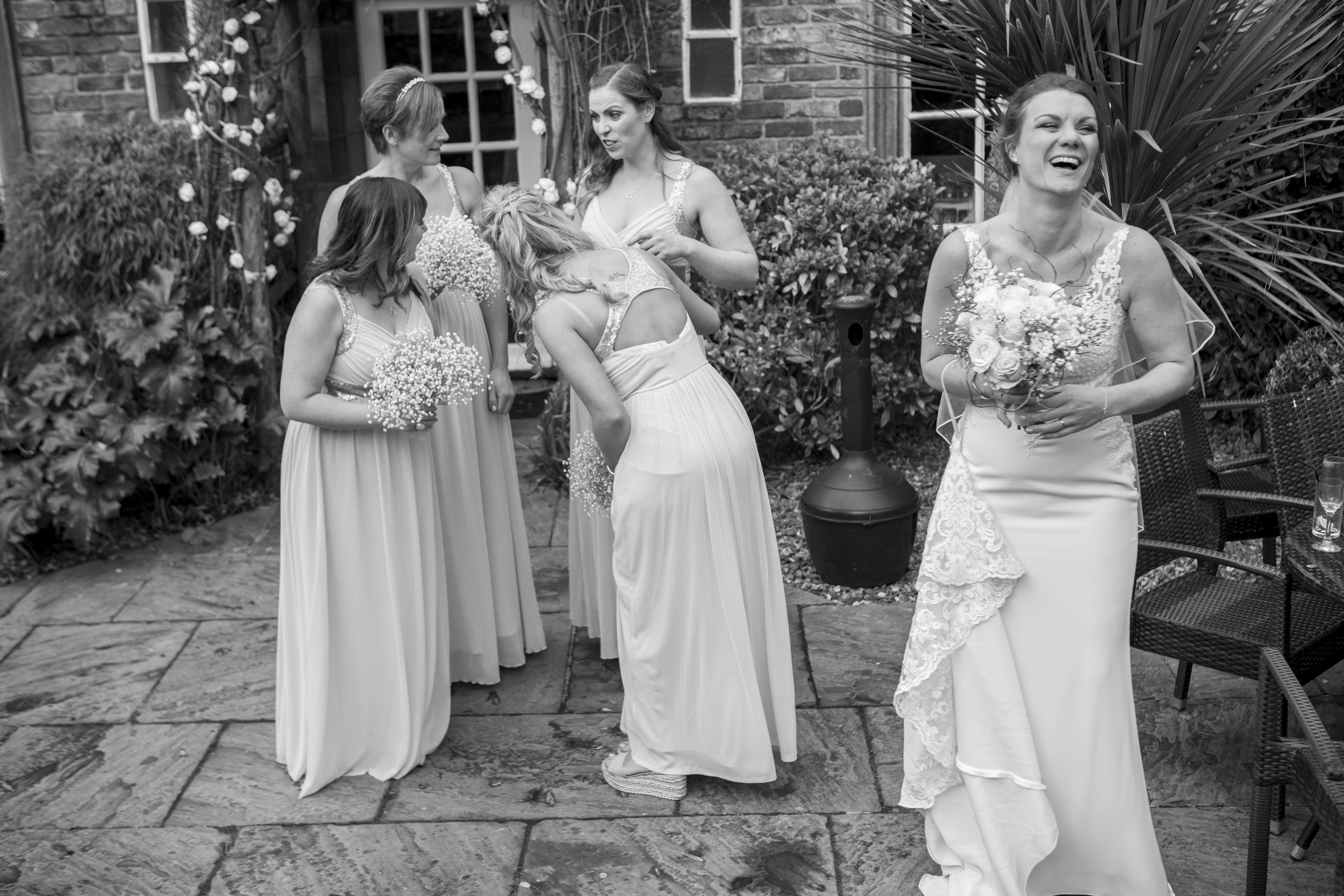 bridesmaids at the bridge hotel wetherby leeds