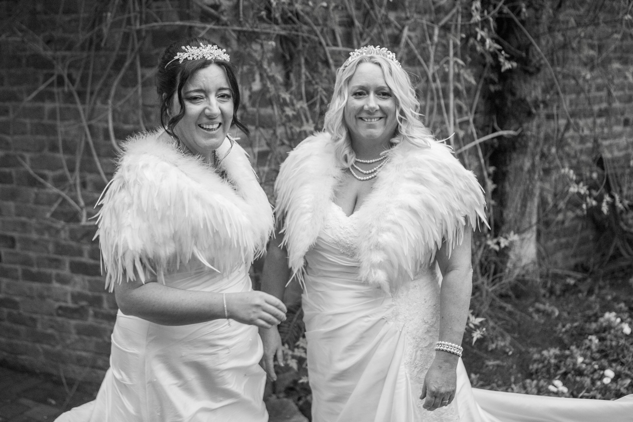 two brides wedding portrait