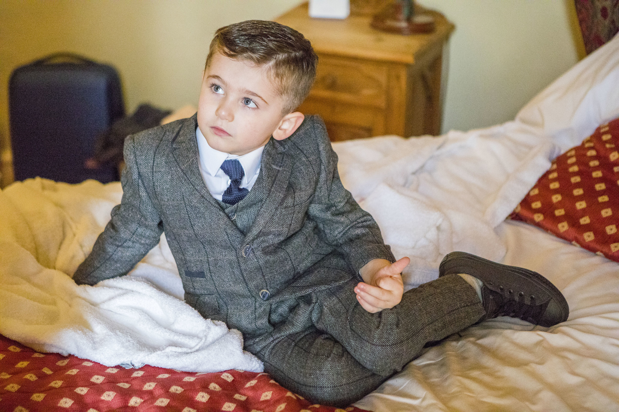 pageboy at a wedding at Walworth Castle Hotel Darlington