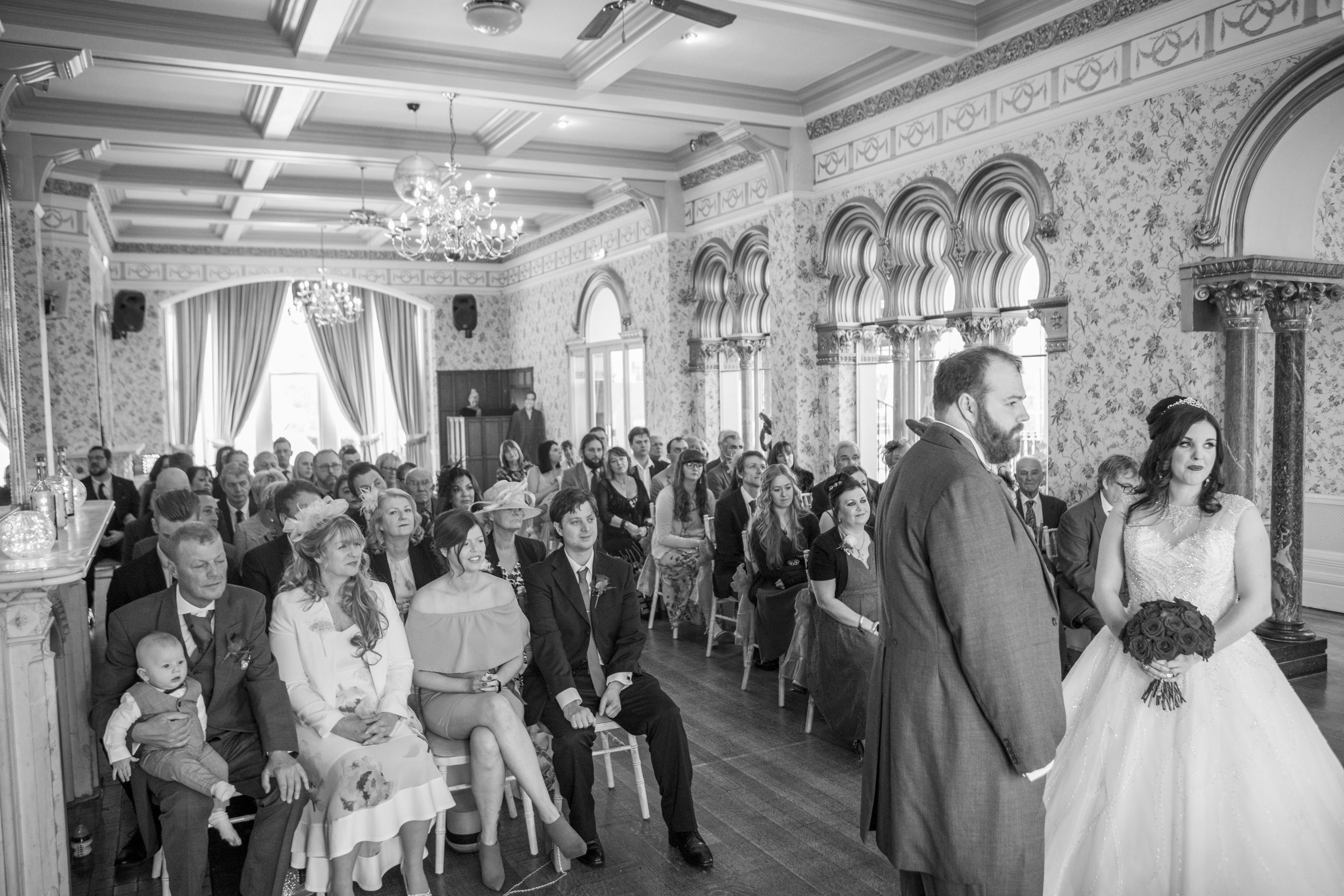 wedding ceremony at rushpool hall salburn