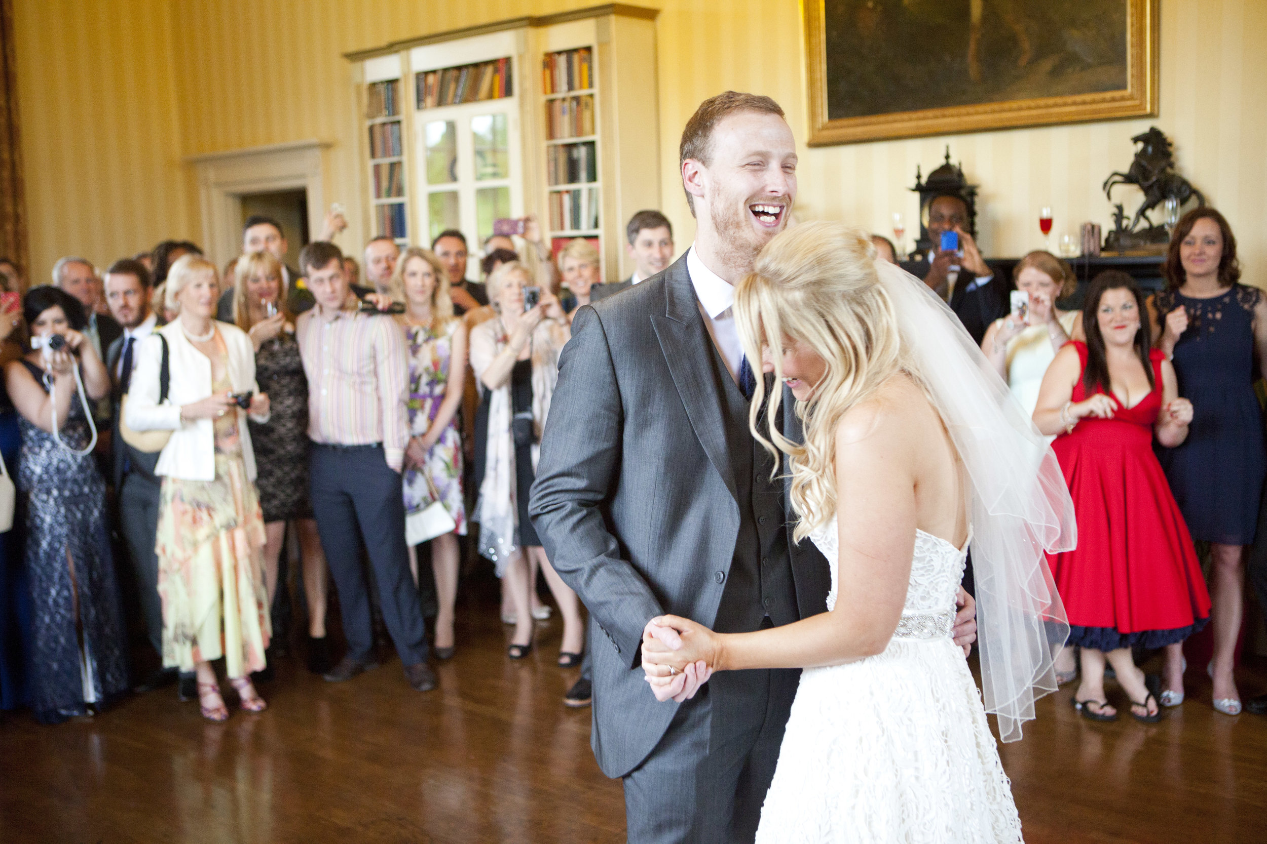 first dance at Swinton Estate North Yorkshire