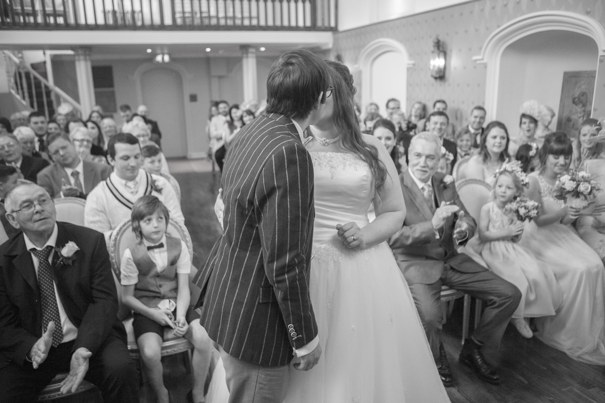 wedding ceremony at lartington hall