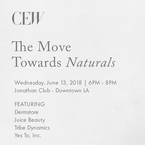 "We're delighted to be participating in @cewinsider upcoming ""The Move Toward Naturals"" West Coast event. Join us on June 13!"