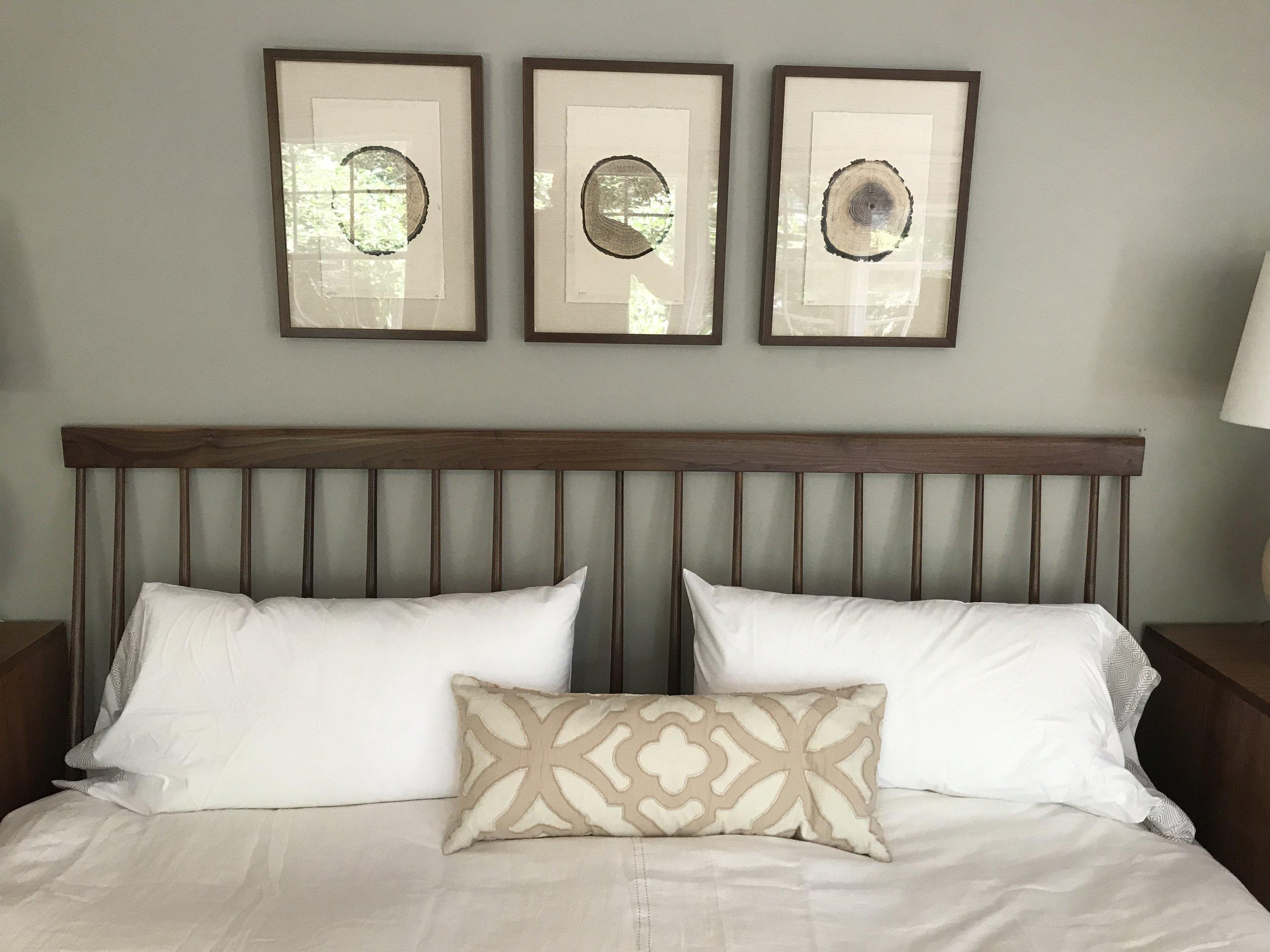 The Jack Ellis Company - Custom Walnut bed detail