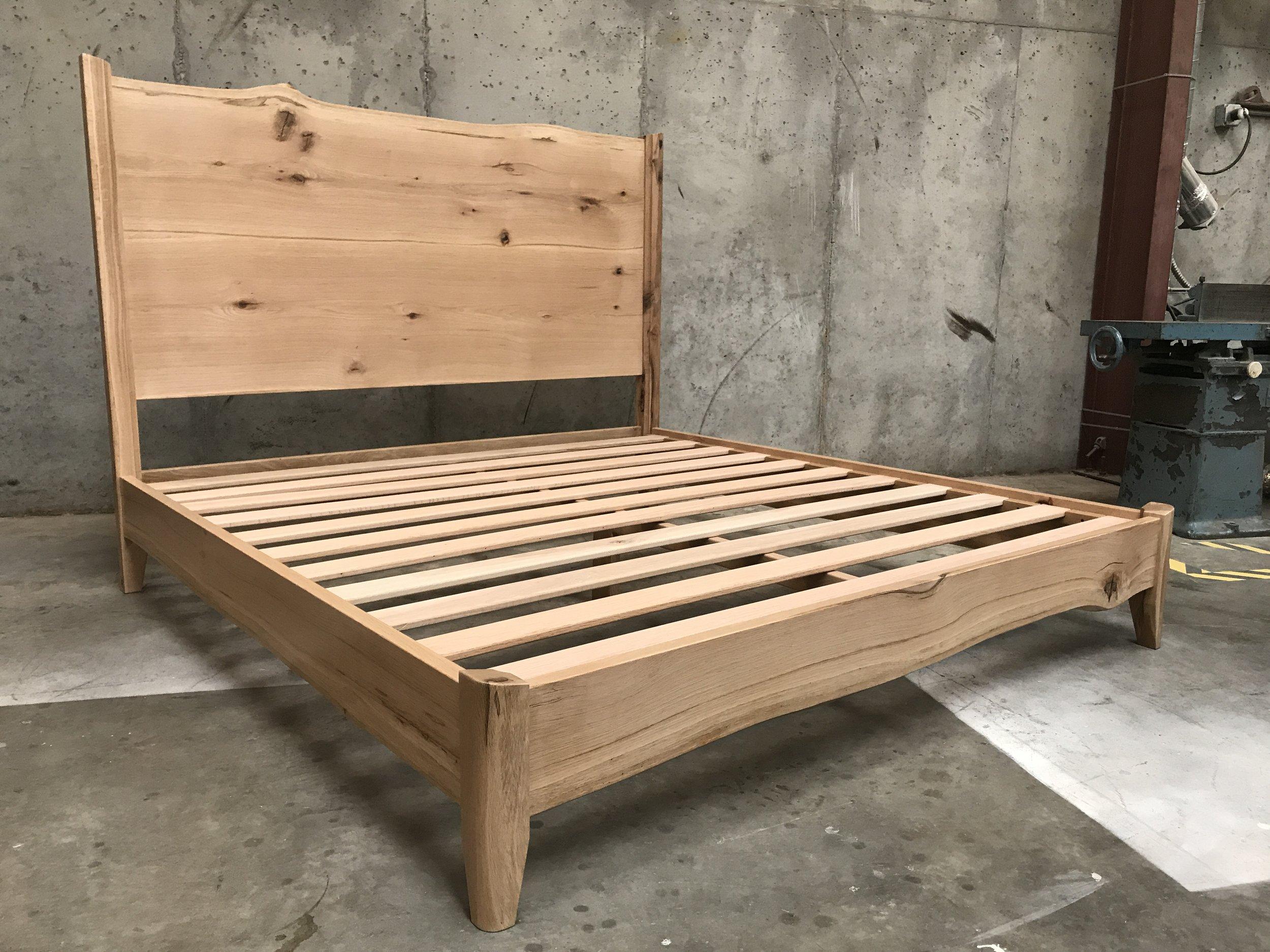 The Jack Ellis Company - Custom Live Edge White Oak Bed