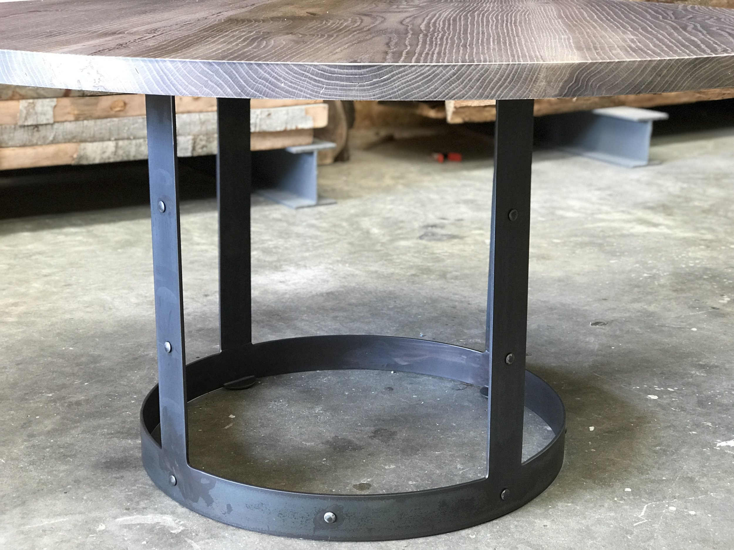 The Jack Ellis Company - White Oak and Steel Round Table