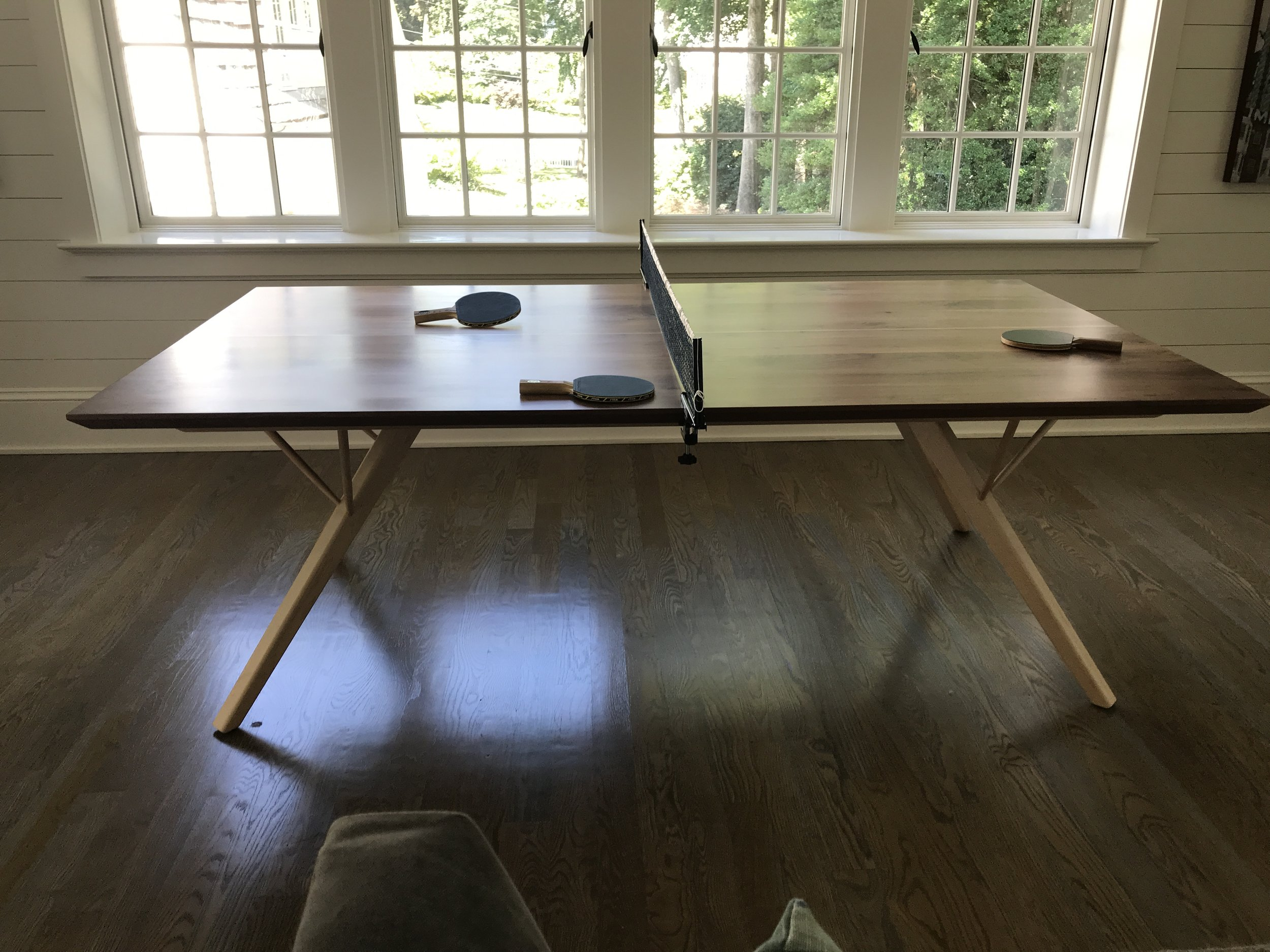 The Jack Ellis Company - Walnut and Maple Ping Pong Table