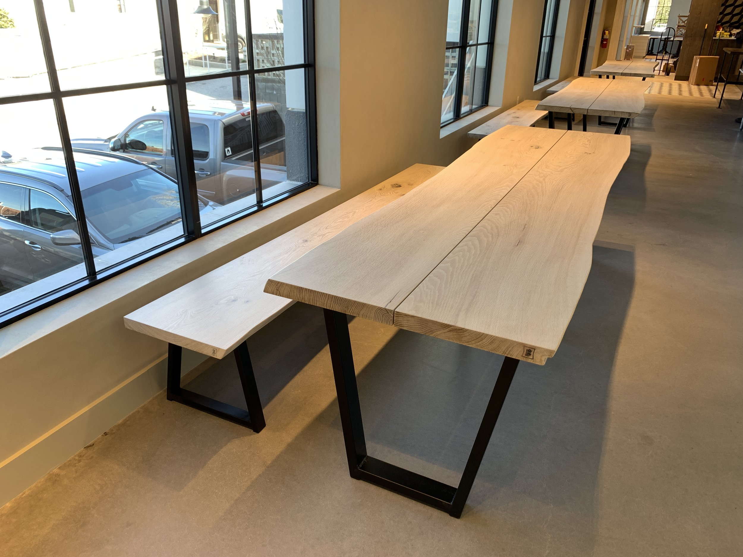 Jack Ellis Company Custom live edge Restaurant table