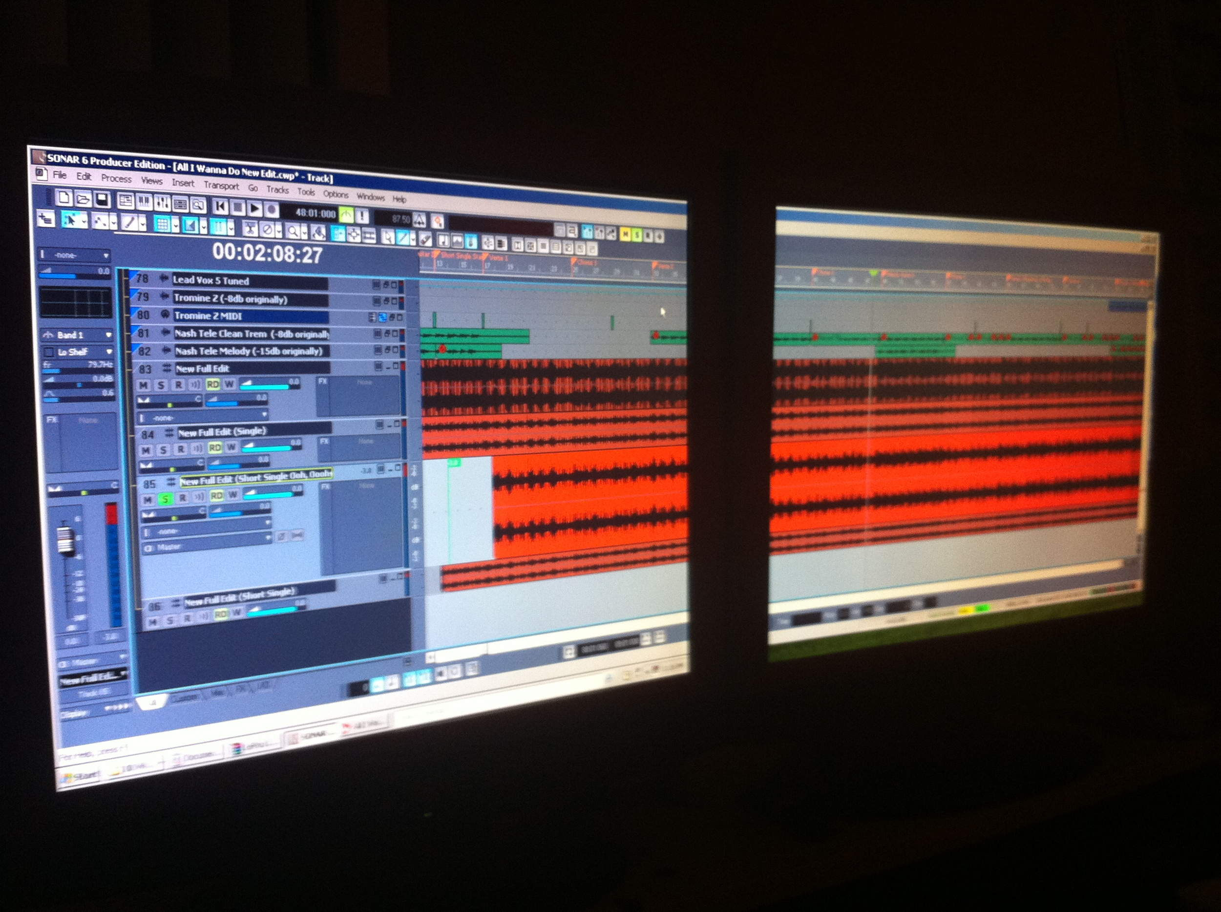 Too much Sonar for one screen...
