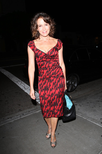 Jennifer Grey prepares for some %22Dirty Dancing%22 as she joins the cast of %22Dancing with the Stars%22. Jennifer and her husband Clark Gregg joined the rest of the %22DWTS%22 cast for a soiree at STK restaurant in West Hollywood.jpeg