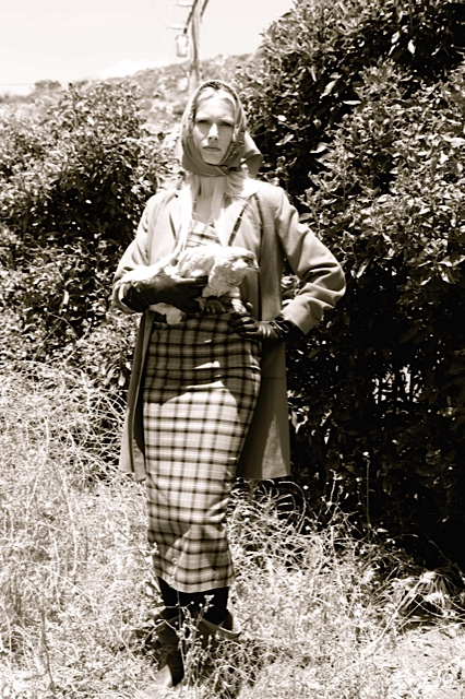 Heather tartan Tennessee Williams with cashmere Patch Pocket Coat