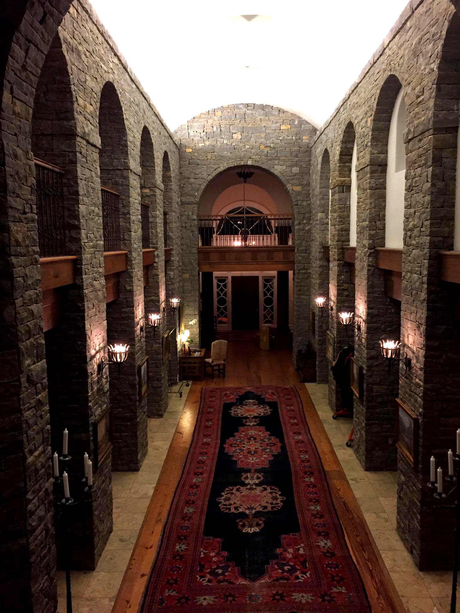 Beautiful hallway of Belle Meade - what a magnificent setting!