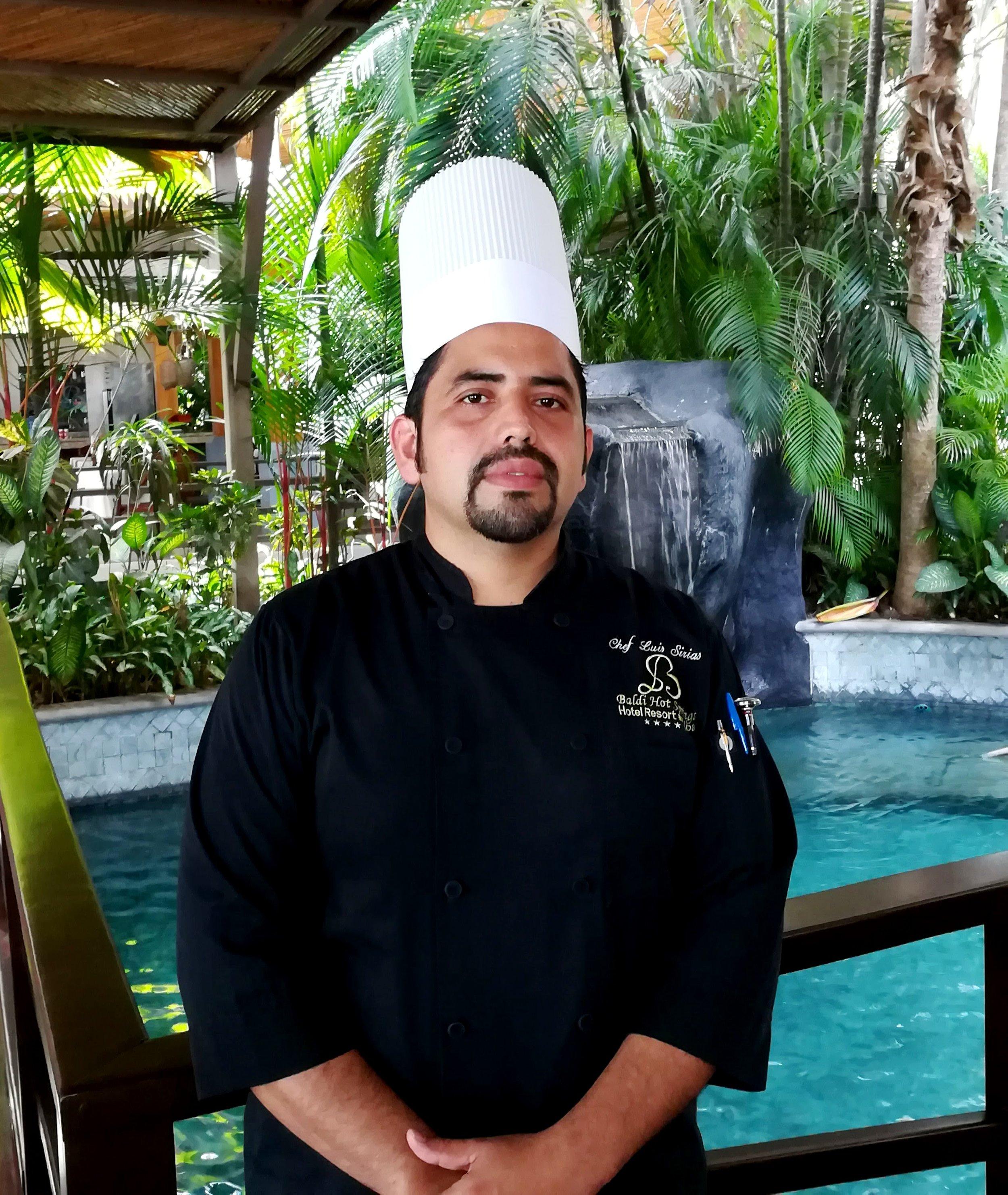 Luis Sirias, chef de Baldi Hot Springs