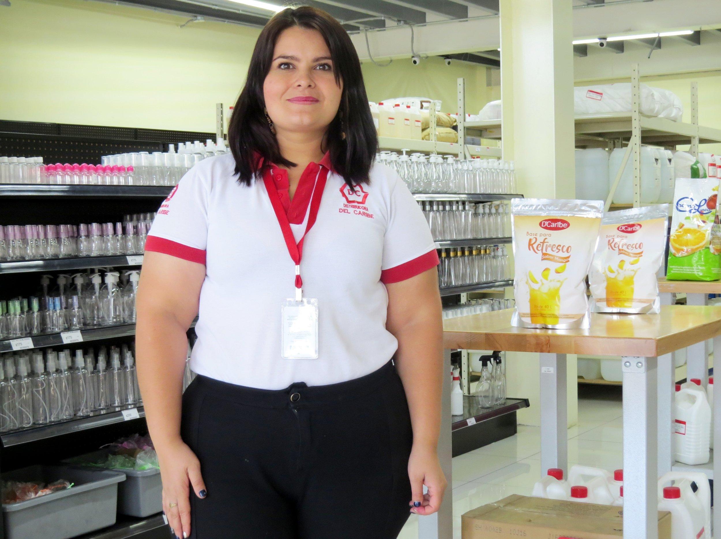 Marjorie Morales, supervisora de tiendas de Distribuidora del Caribe