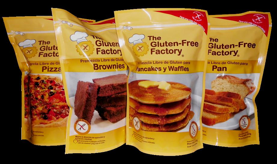 Premezclas y harinas libres de gluten, así como productos de panadería y repostería para Horeca y supermercados son algunos de los principales