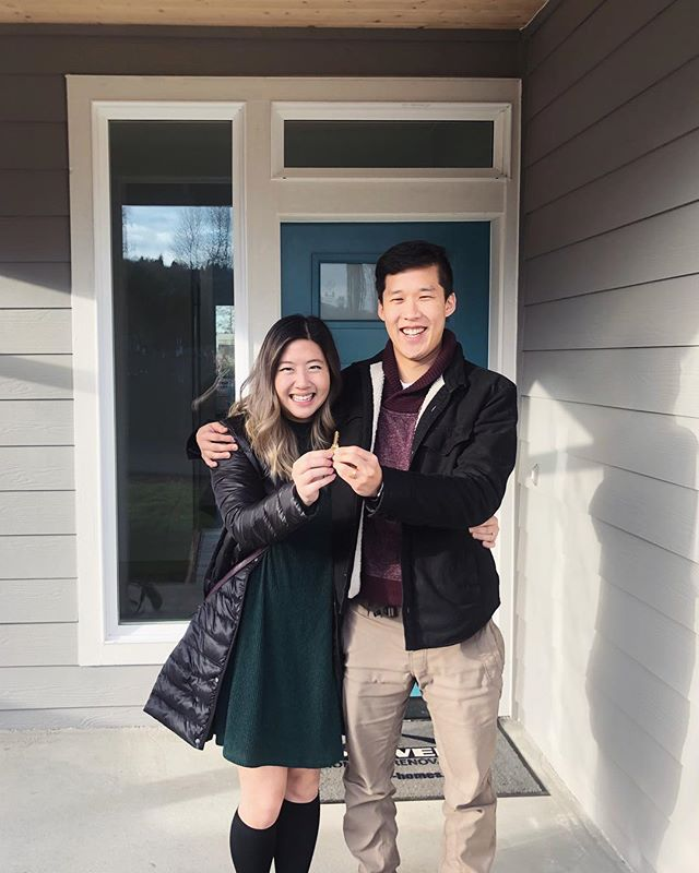 It's official, the Mori's are homeowners!!! 😱 Thanks to the best agent out there and to @samwurai3 & @halleatse for introducing us!#adultingsohard