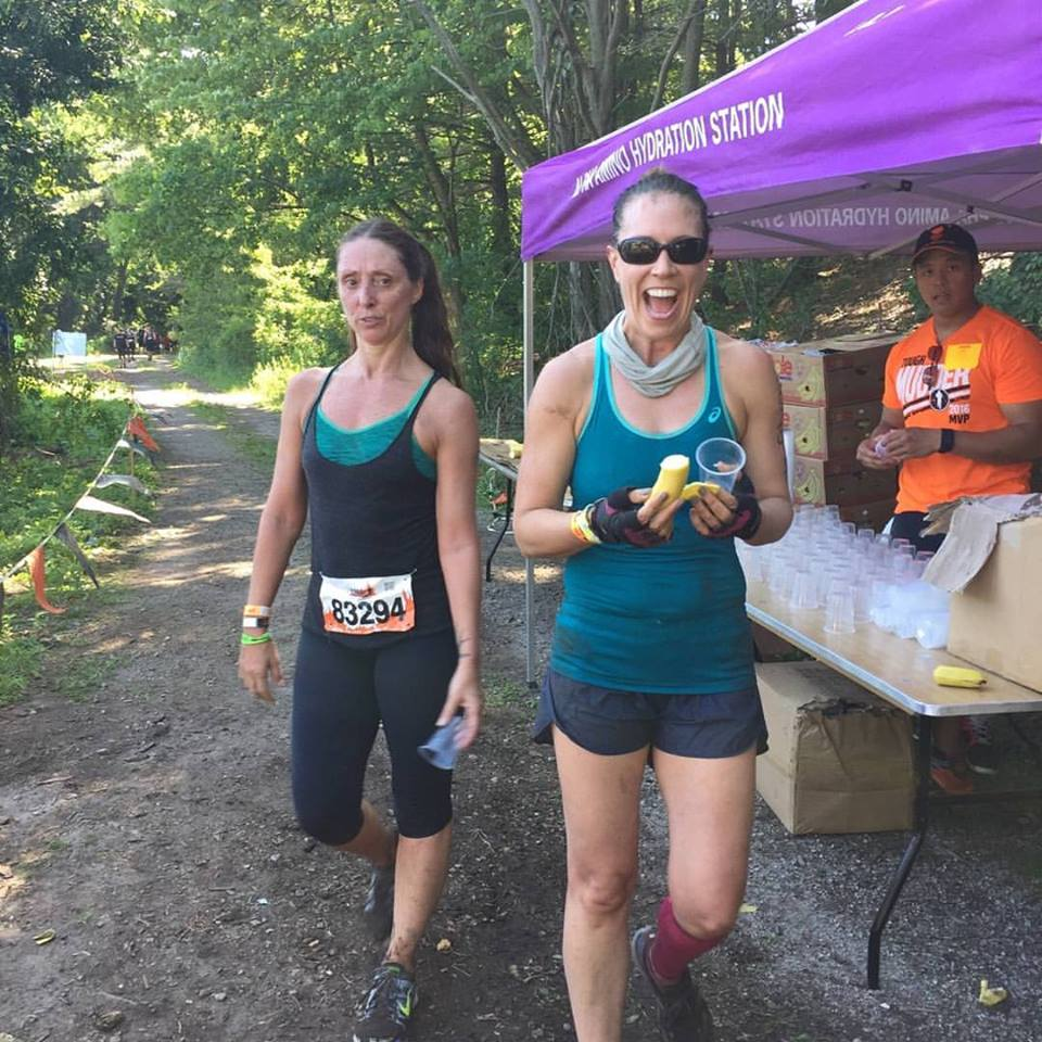 Elizabeth running the Long Island Tough Mudder...yeah, badass.