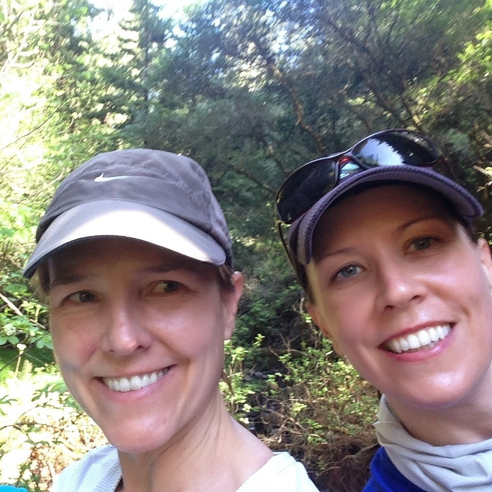 Elizabeth with her sister (and another UFO badass), Kate, hiking the dipsea.