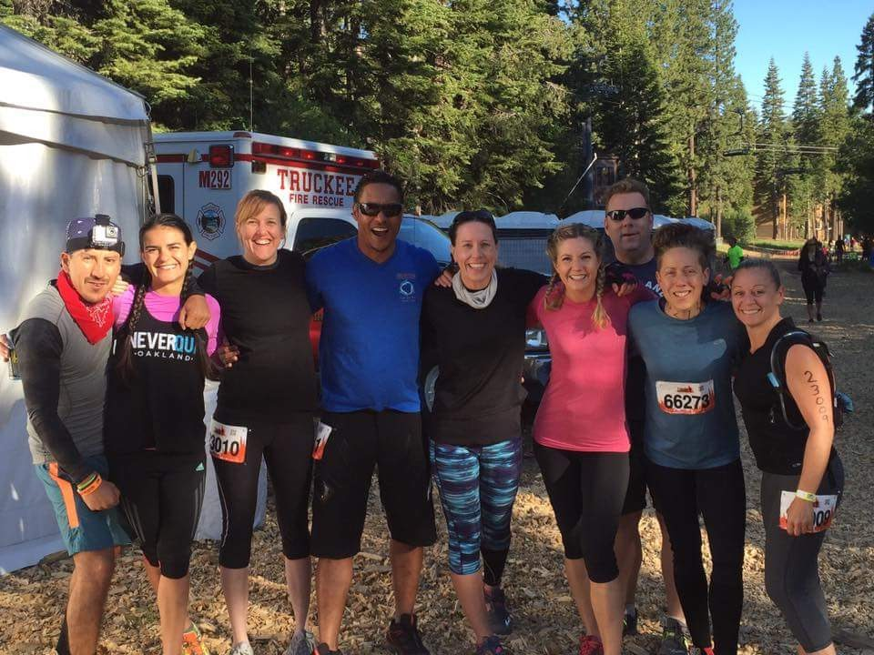 Elizabeth with the UFO crew crushing the Tough Mudder in Tahoe.