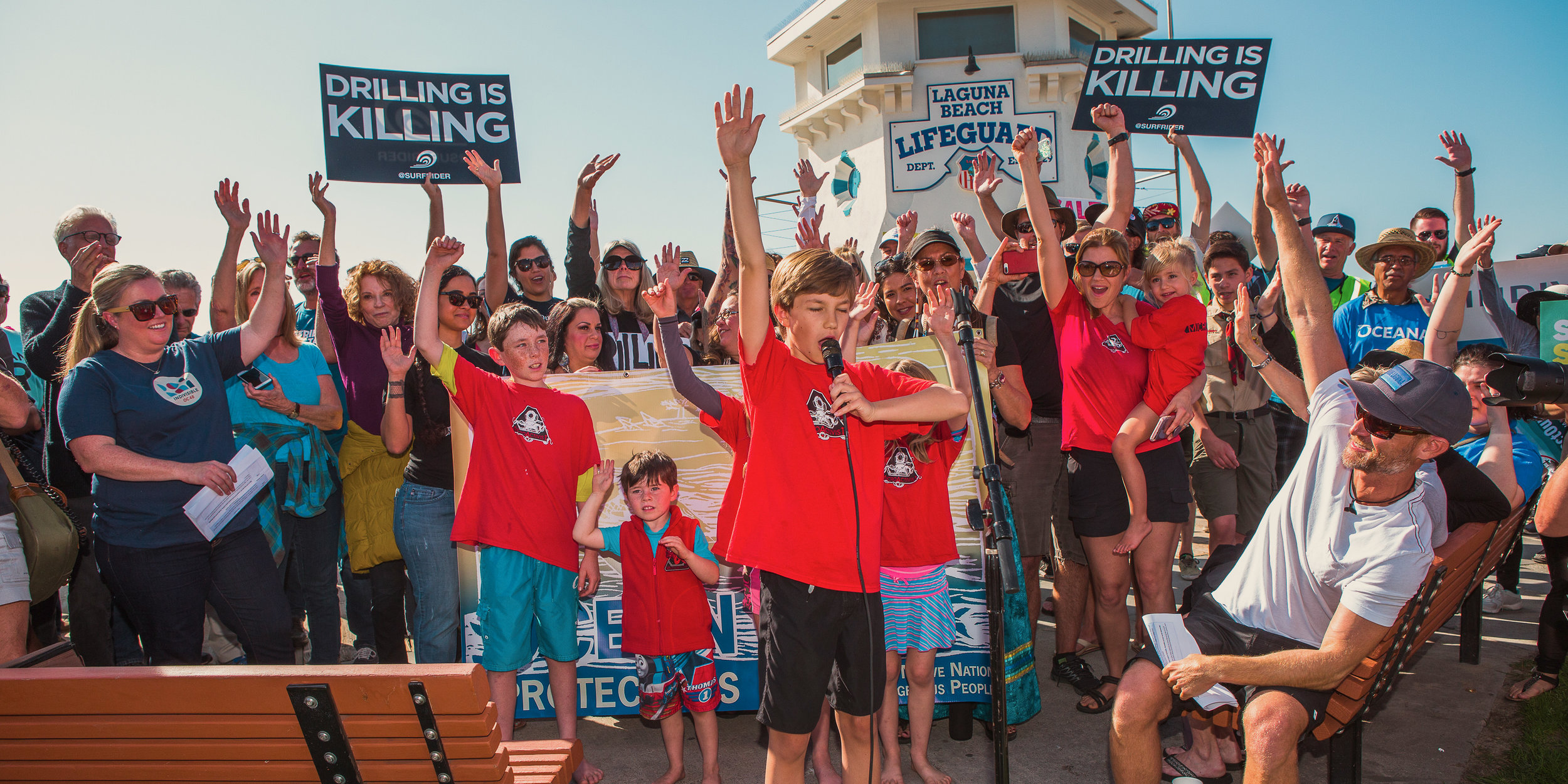 3 offshore drilling protest organizers shown include Ted Danson, Sara Lowell, Rich German.jpg