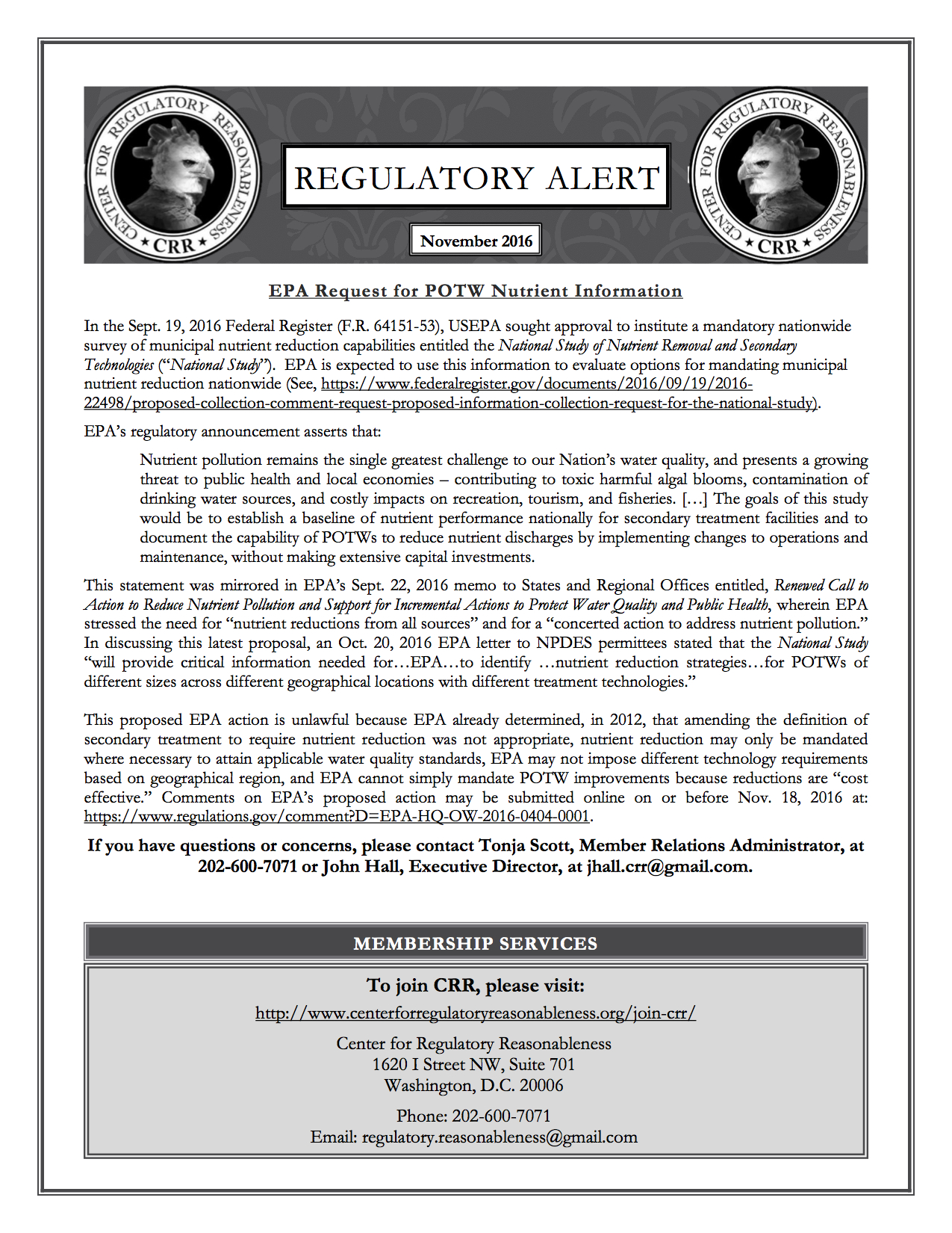 Regulatory Alert