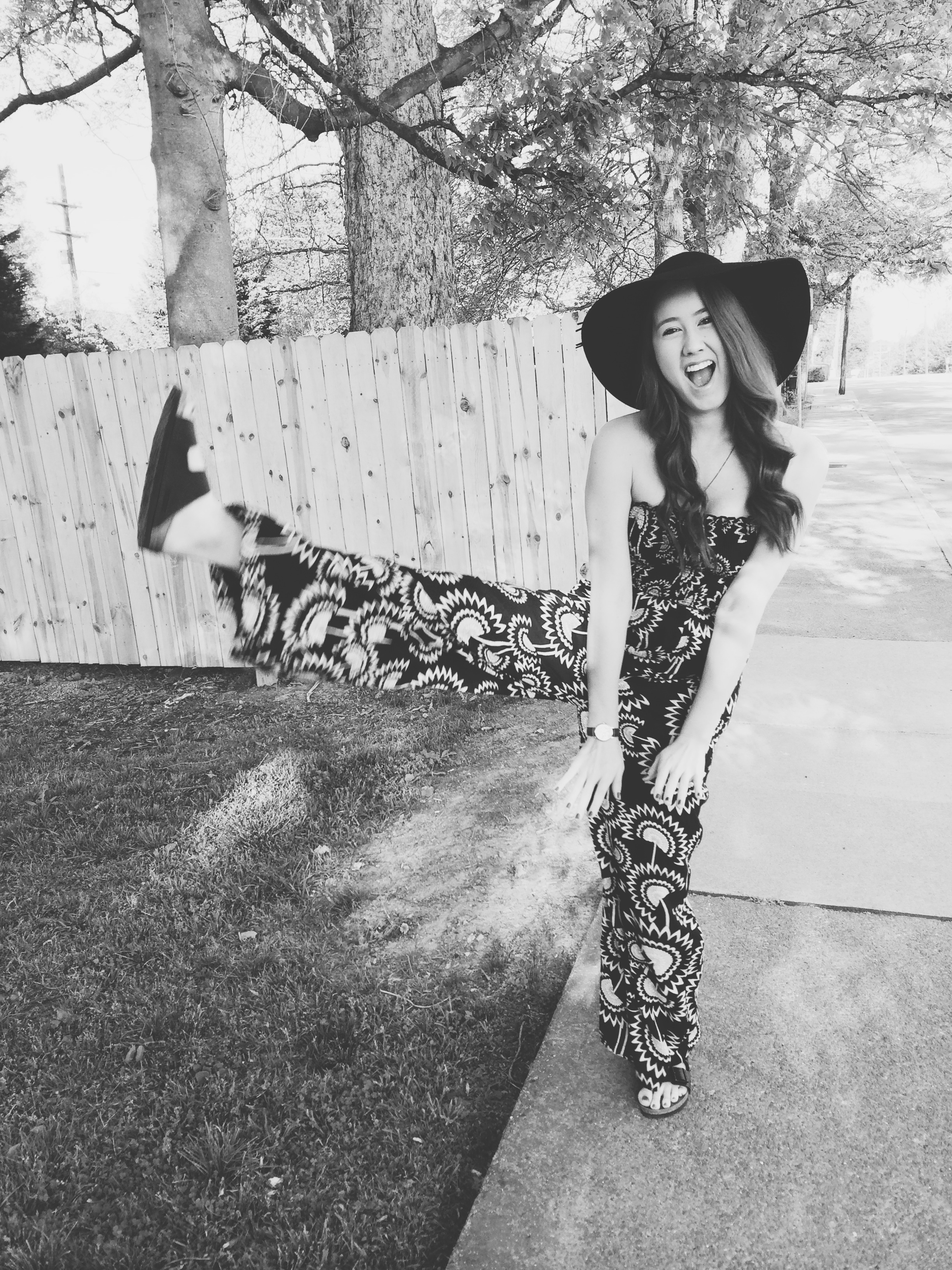 """Birkenstock """"Arizona"""" sandals ,Urban Outfitters jumpsuit, American Eagle Outfitters hat,  Heron and Lamb necklace ,  Urban Outfitters watch"""