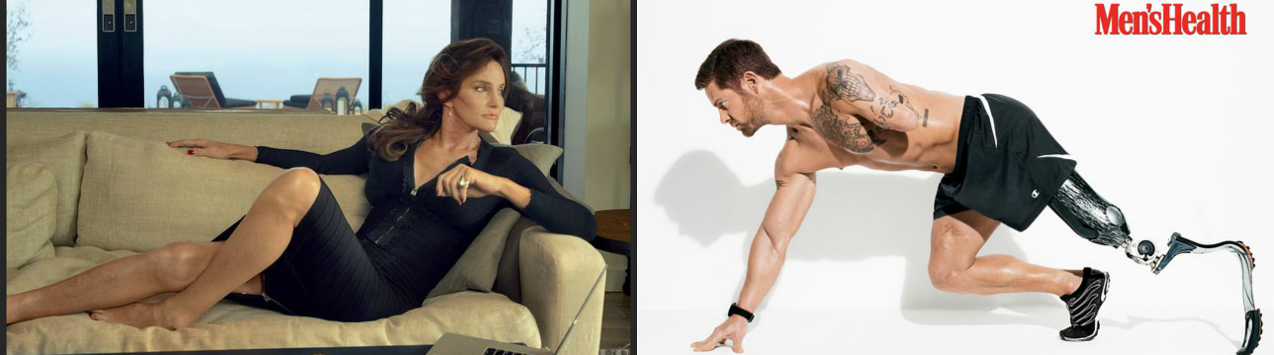 Photos courtesy of Vanity Fair and Men's Health