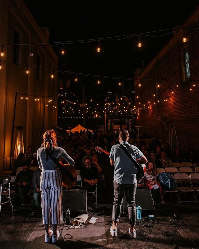 Had a blast playing the @southmainkitchen stage for the second year in a row at @wireandwoodfest!! Still blown away each and every time you lovelies show up to listen to us sing songs and ramble on stage and be extra AF (swipe to the second photo for evidence of this). And you guys went crazy buying our merch!! Y'all are the true MVPs so THANK YOU for showing your appreciation by supporting the art we create 🙌🏼 One more s/o to whoever snapped these amazing photos! Still working on trying to find out who that is so we can credit them. ❤️