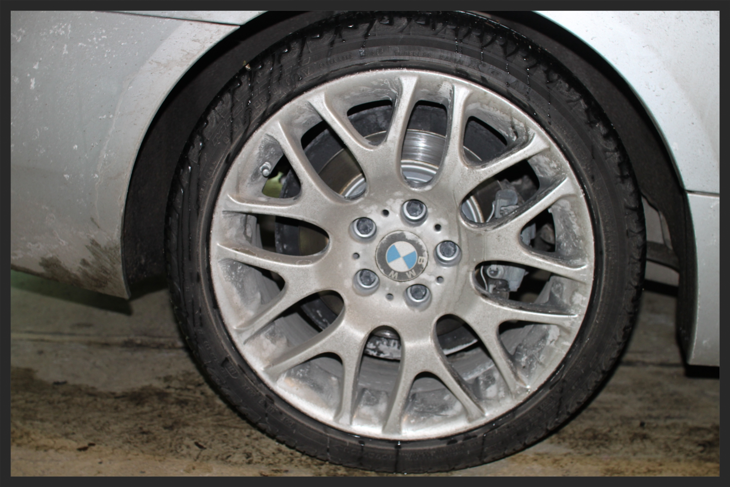MORE SALT, DIRT, GRIME ON YOUR WHEELS, WHICH CAUSES THE WHEELS TO LOOSE ITS FINISH.