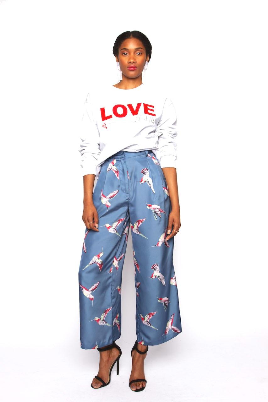 Love Sweatshirt & Love Birds -