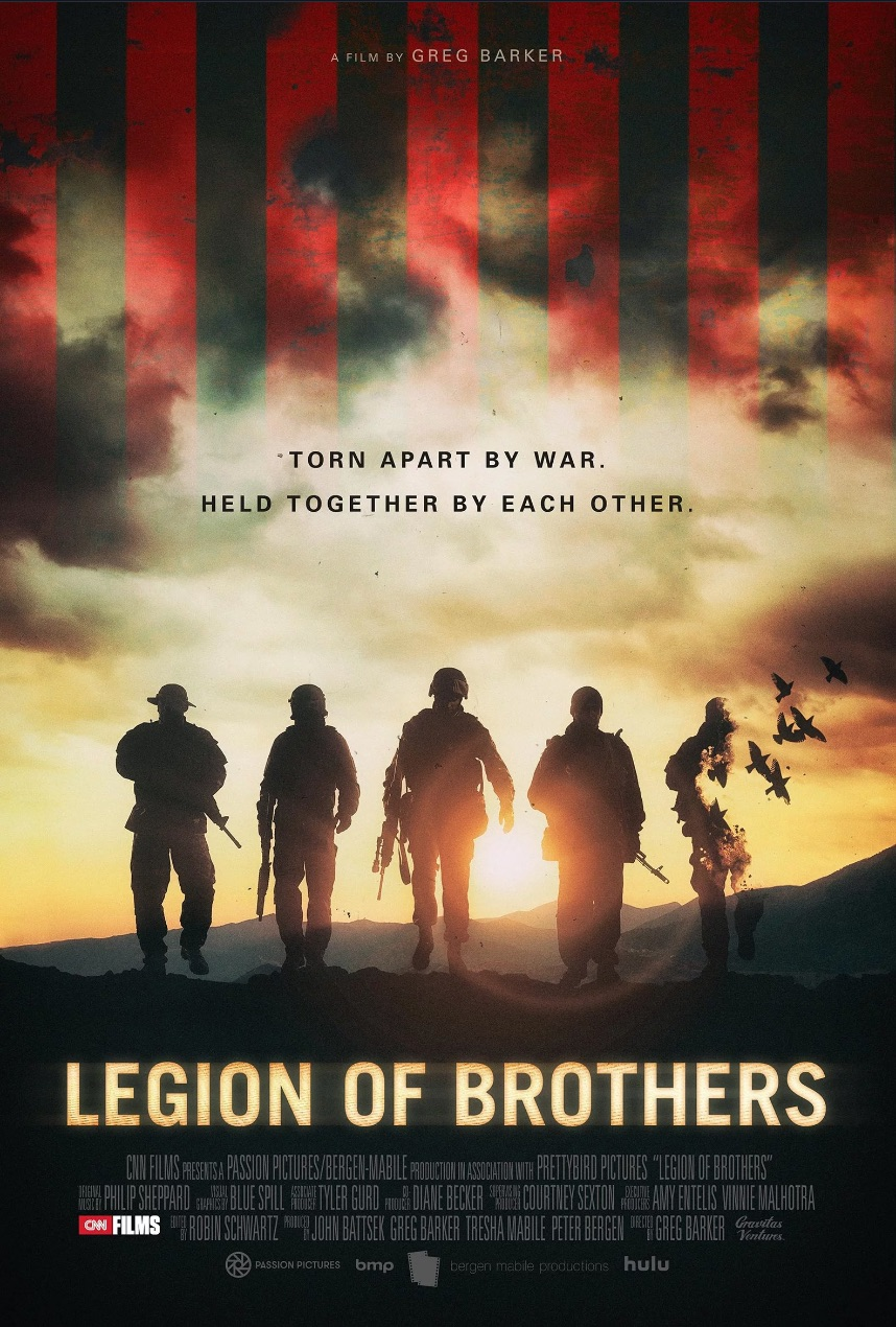 LEGION OF BROTHERS   The Green Berets in Afghanistan immediately after 9/11, and the enduring impact of war.  CNN Films, Gravitas Ventures, 2017 Sundance Film Festival, January 2017 Theatrical release, Summer 2017