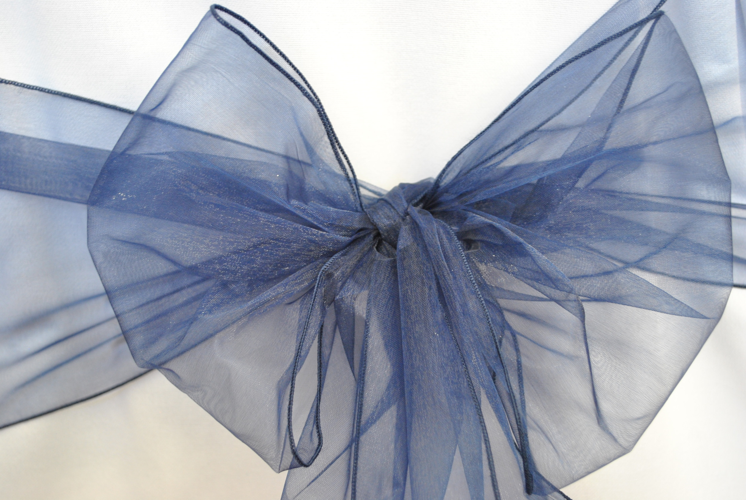 Navy Blue Organza