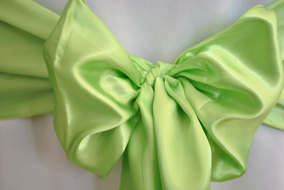 Lime Green Satin