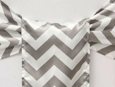 Grey & White Chevron Sash