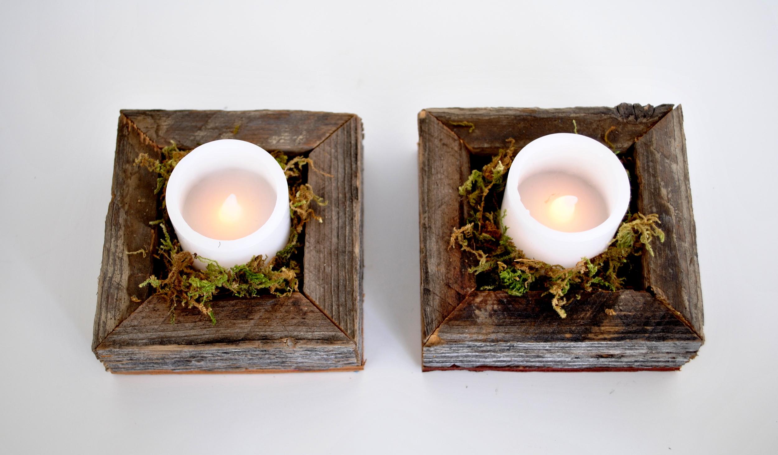Barn Wood Individual Tea Light/Votive Holders